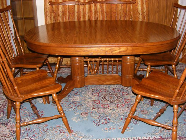 Tell City Dining Table with 6 Chairs - Marva\'s Place