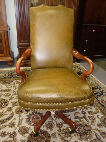 Mckinley Leather Office Chair Marva S, Consignment Furniture Minneapolis